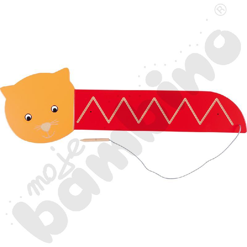 Tabliczka ze szlaczkiem kotek