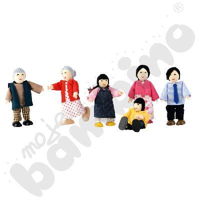 Rodzina azjatycka - lalki