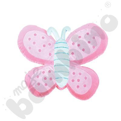 Poduszka FLAT motylek różowy