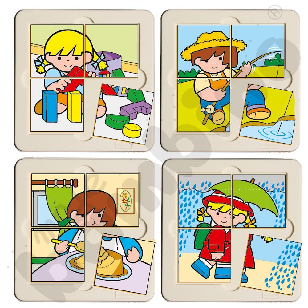 Zestaw puzzli tematycznych 4 elem.
