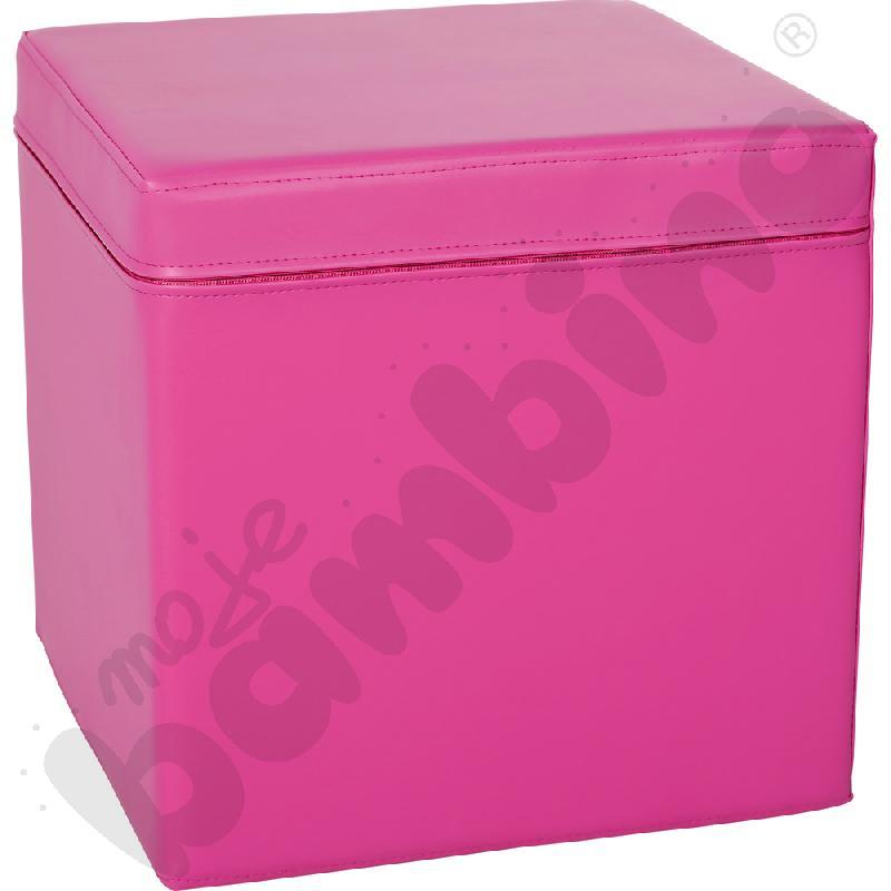 Kostka świetlicowa różowa, wys. 35 cm