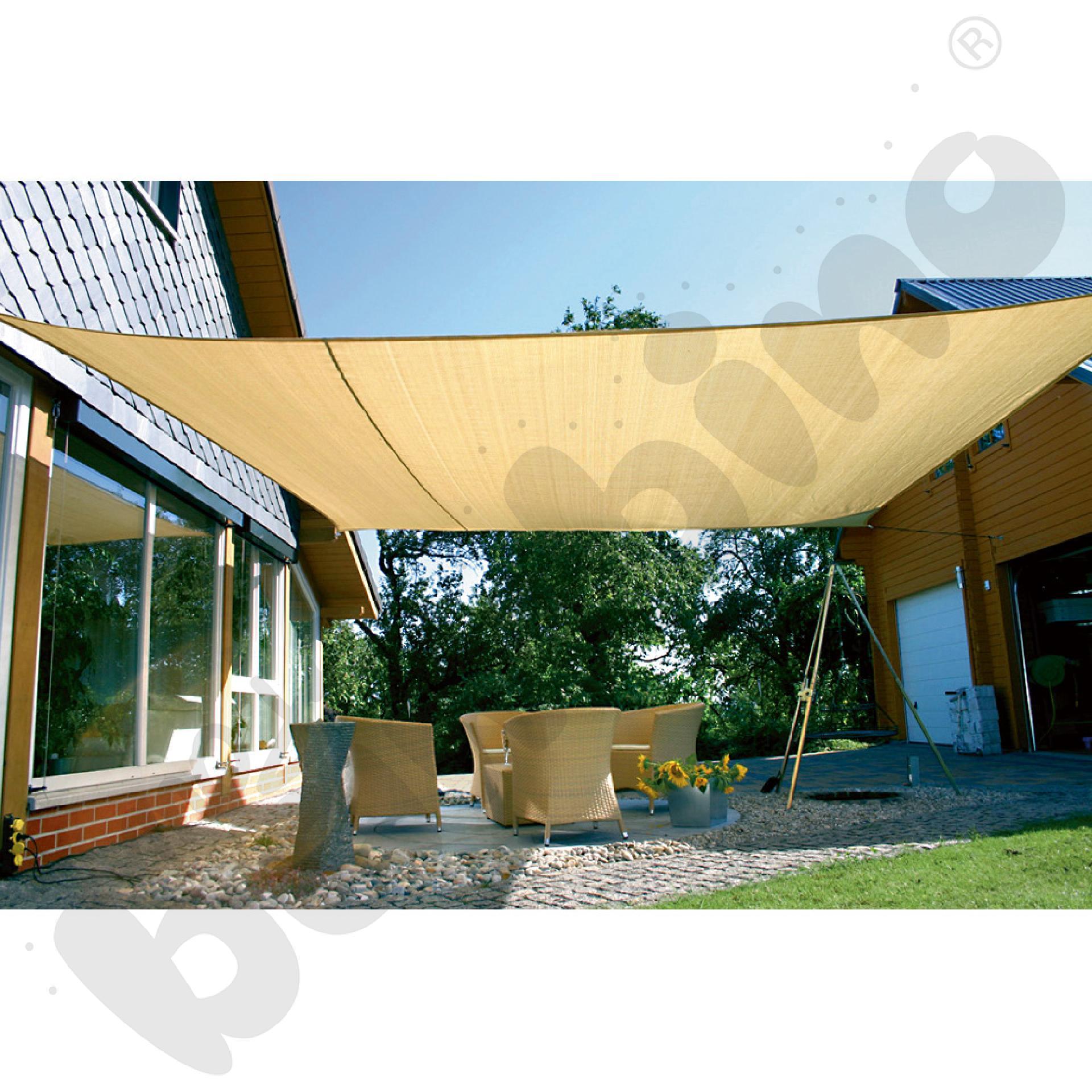 Materiałowy dach ochronny 5 x 5 m beżowy