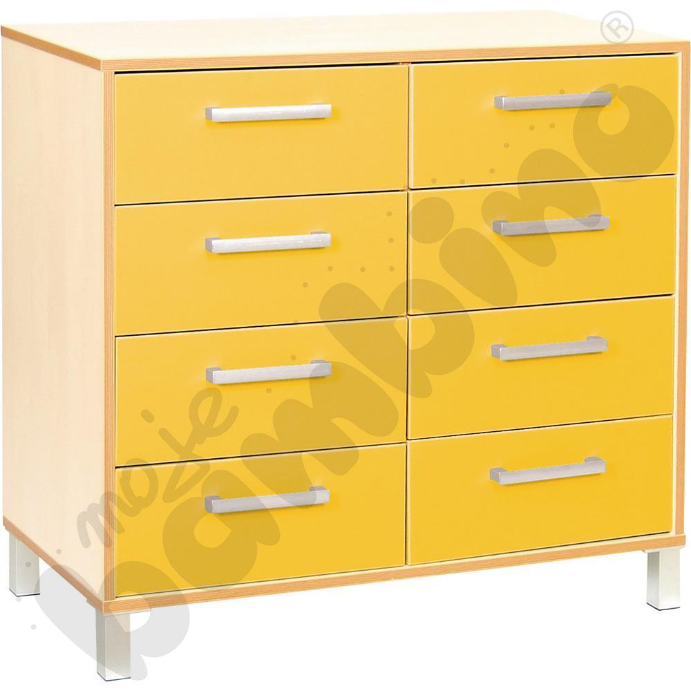 Szafka z szufladami Premium duo - żółta