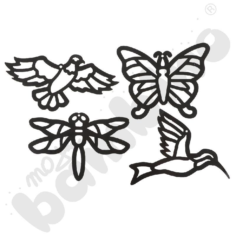Witraże - ptaki i owady