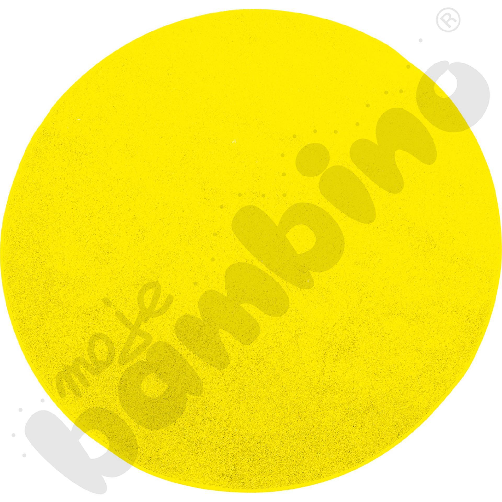 Dywan okrągły o śr. 80 cm - żółty