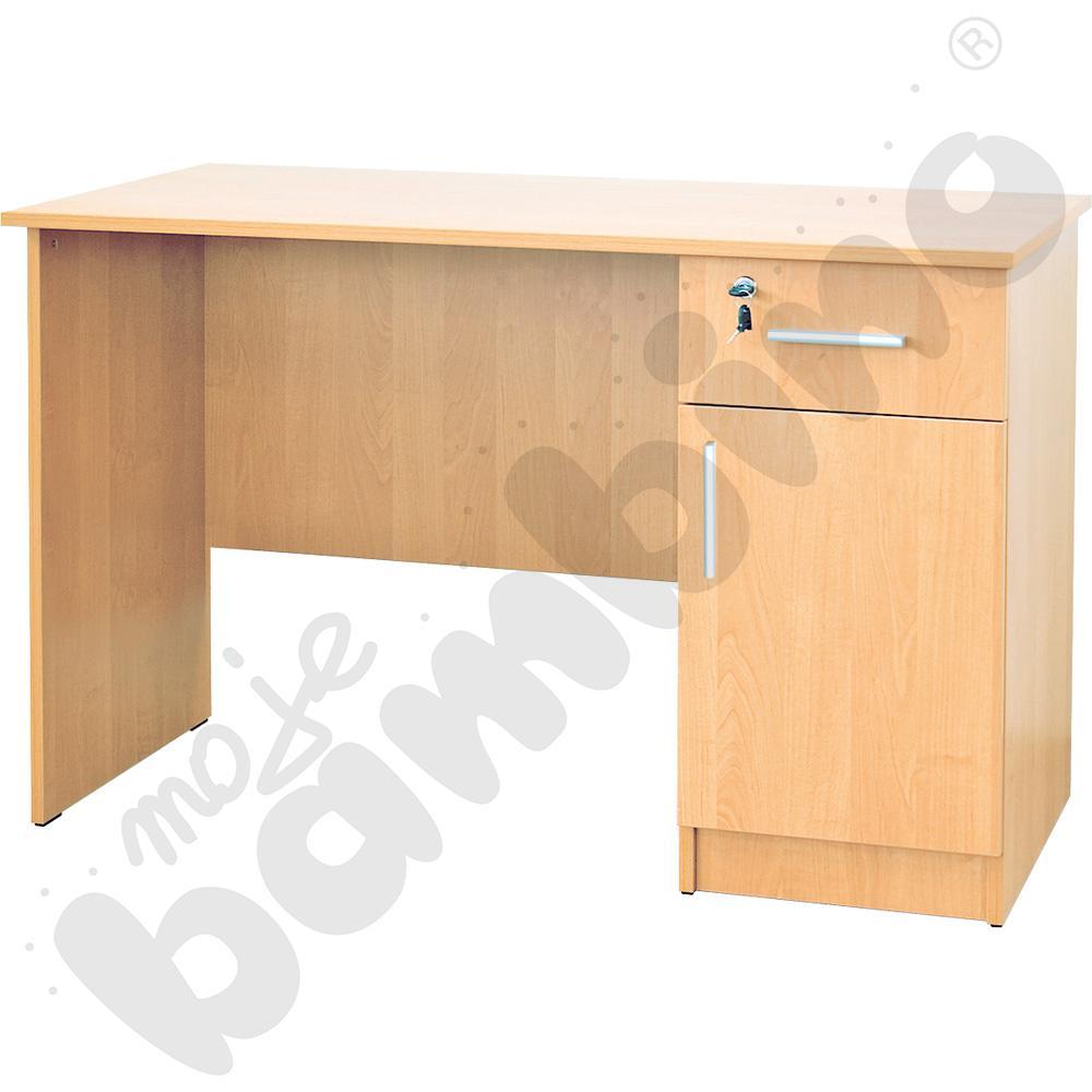 Biurko Vigo z szafką i szufladą buk