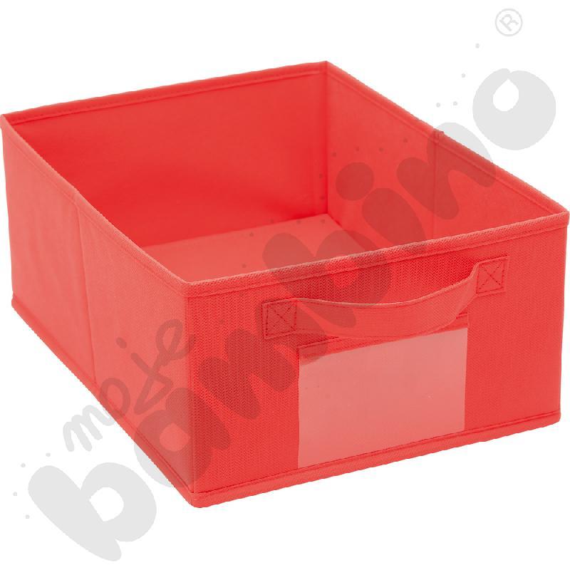 Pojemnik z tkaniny - czerwony