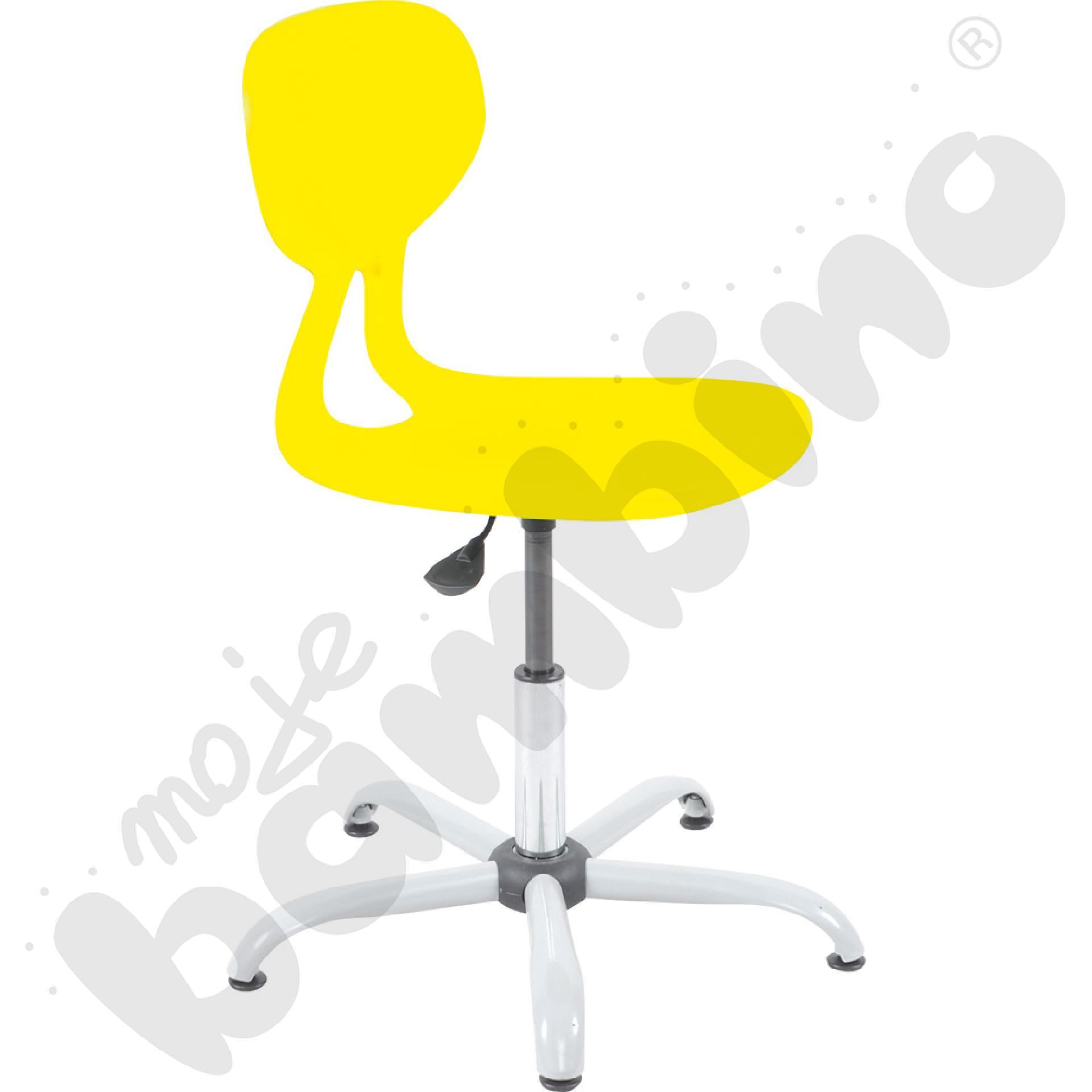 Krzesło Colores obrotowe z reg.  wys. żółte