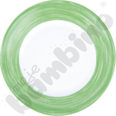 Talerzyk deserowy mały Brush - zielony