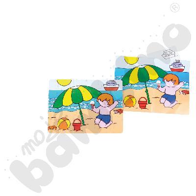 Puzzle Edzio na plaży