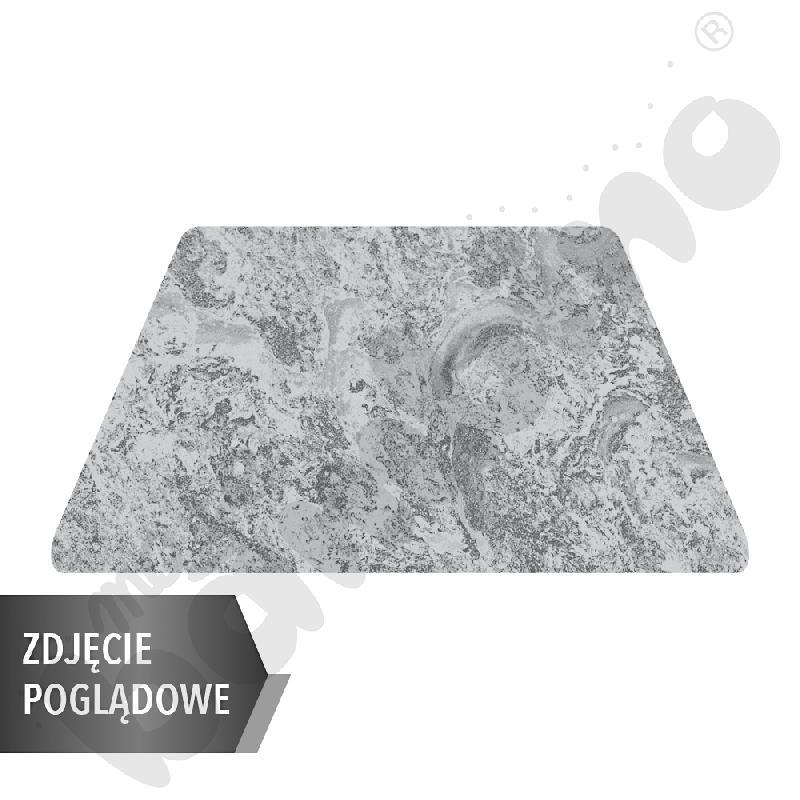 Cichy stół trapezowy, 140 x 70 x 80 x 70 cm, zaokrąglone narożniki, rozm. 5 - szary