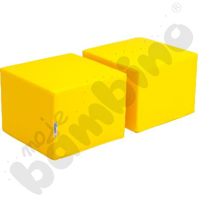 Pufy do biblioteczki Premium - żółte