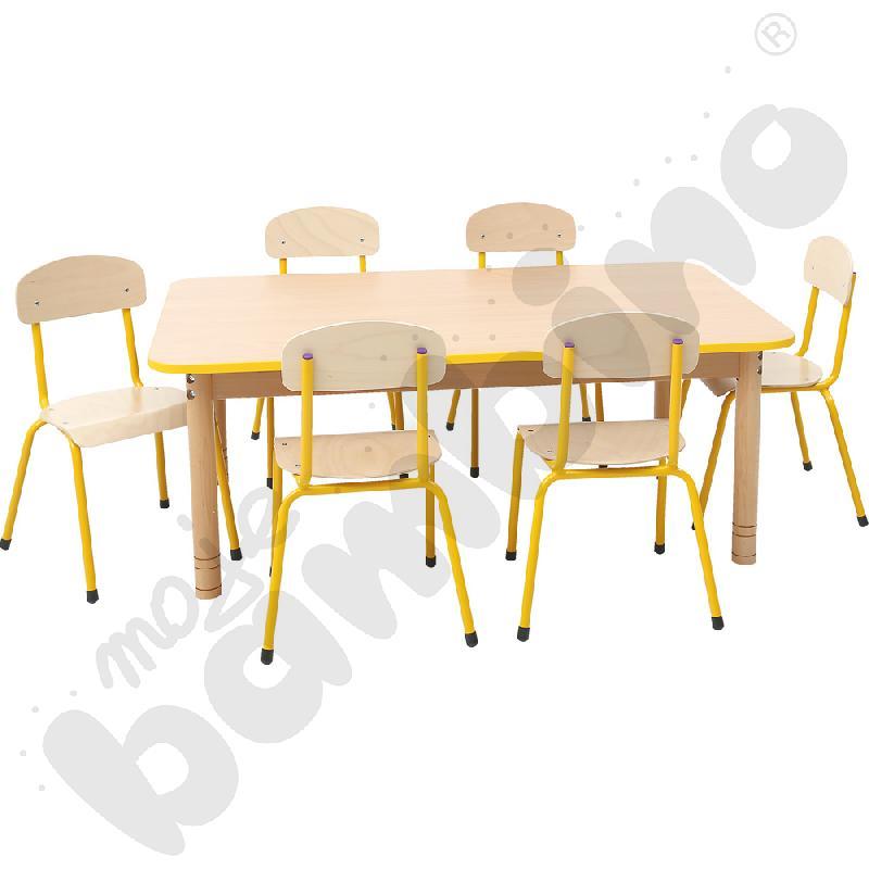 Stół prostokątny buk z...