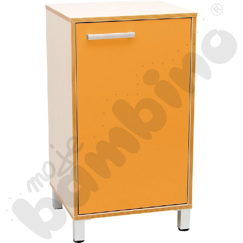Szafka z drzwiczkami Premium solo - pomarańczowa