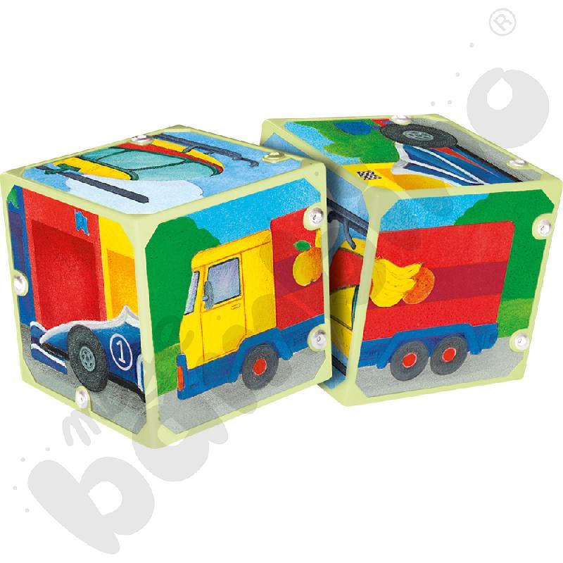 Dźwiękowe kostki Transport