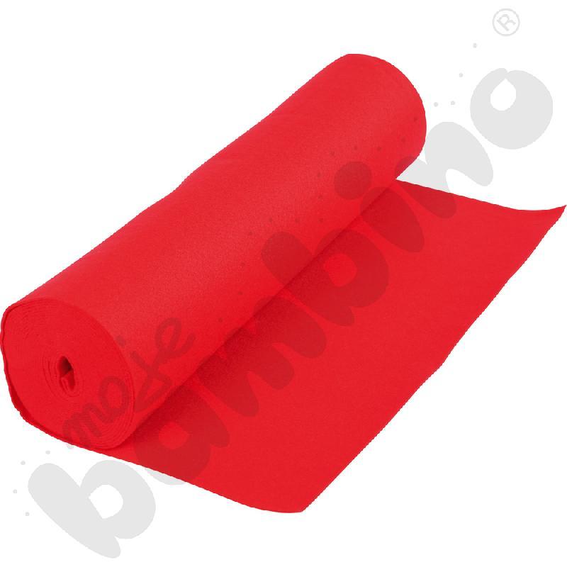 Rolka filcu czerwona