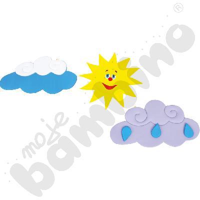 Dekoracja Słońce i chmurki