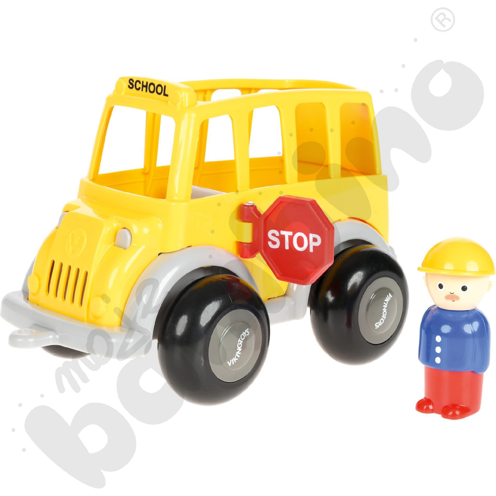 Autobus szkolny z figurkami
