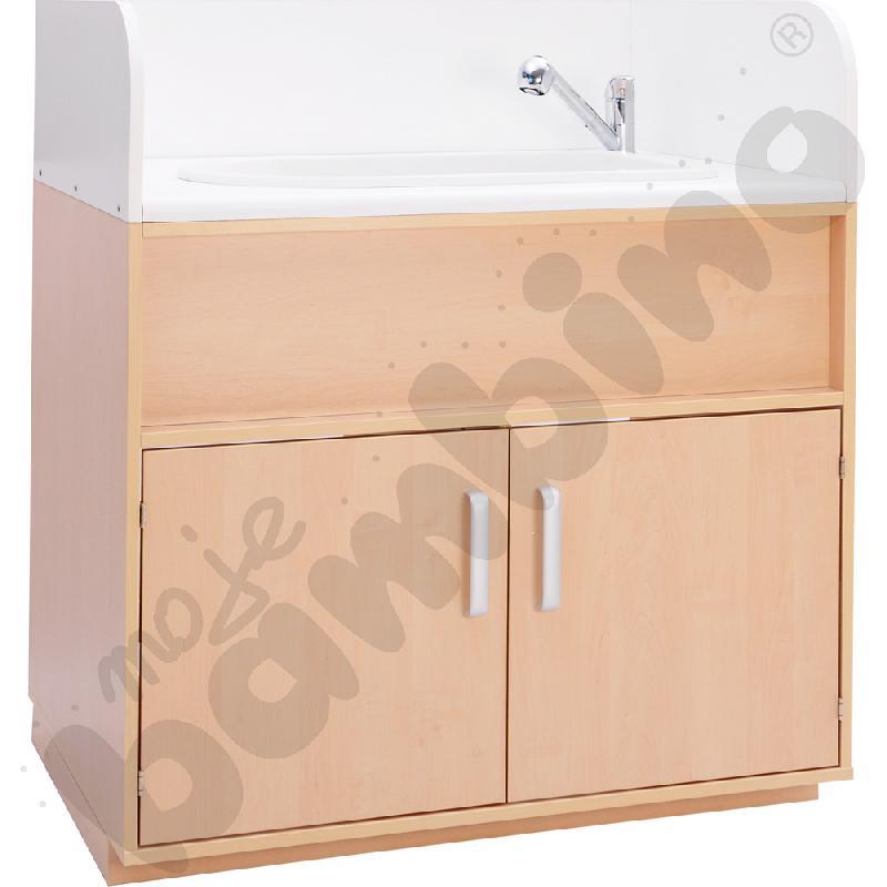 Przewijak z umywalką, z burtami