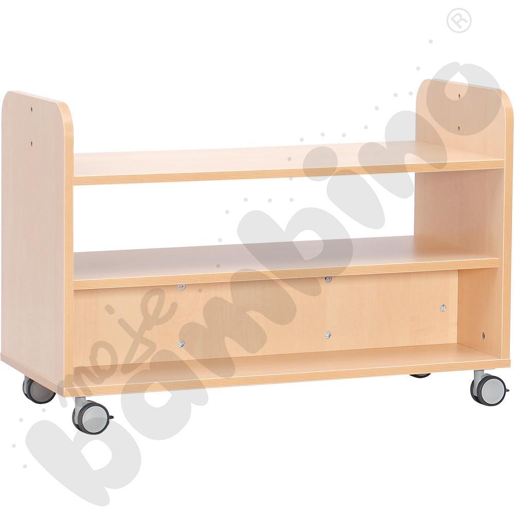 Mobilna szafka z półką do kącików, półotwarta