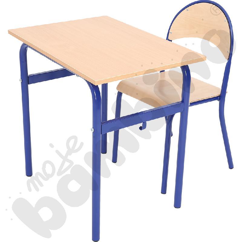 Stół Daniel 1-os. z krzesłem P, rozm. 6, niebieskie