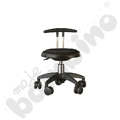 Krzesło Genito z oparciem, wys. 30-38 cm - czarne