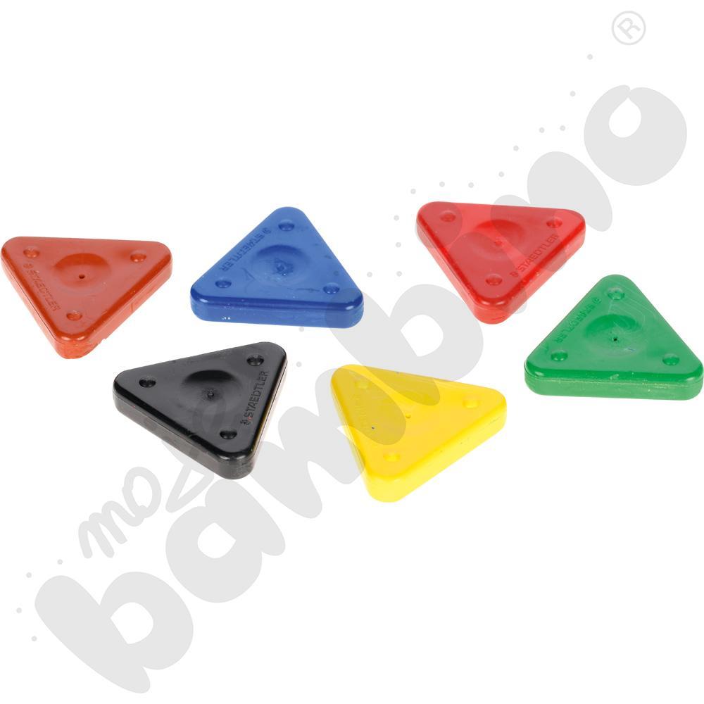 Kredki woskowe - trójkąty 6...