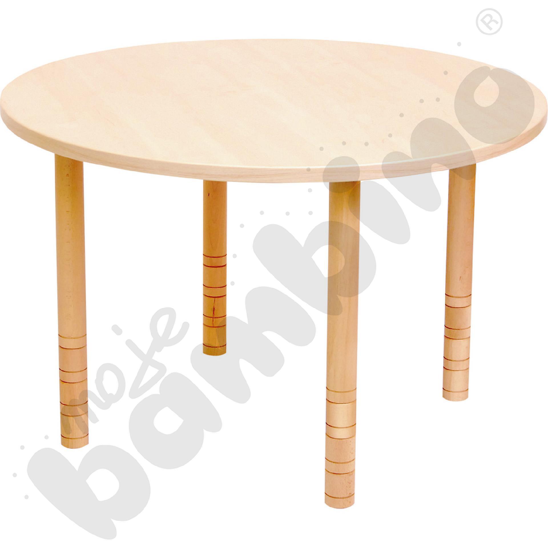Stół okrągły brzoza