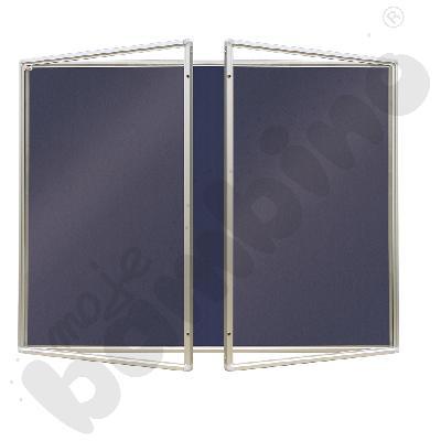 Gablota wewnętrzna otwierana na bok tekstylna 180 x 120 cm