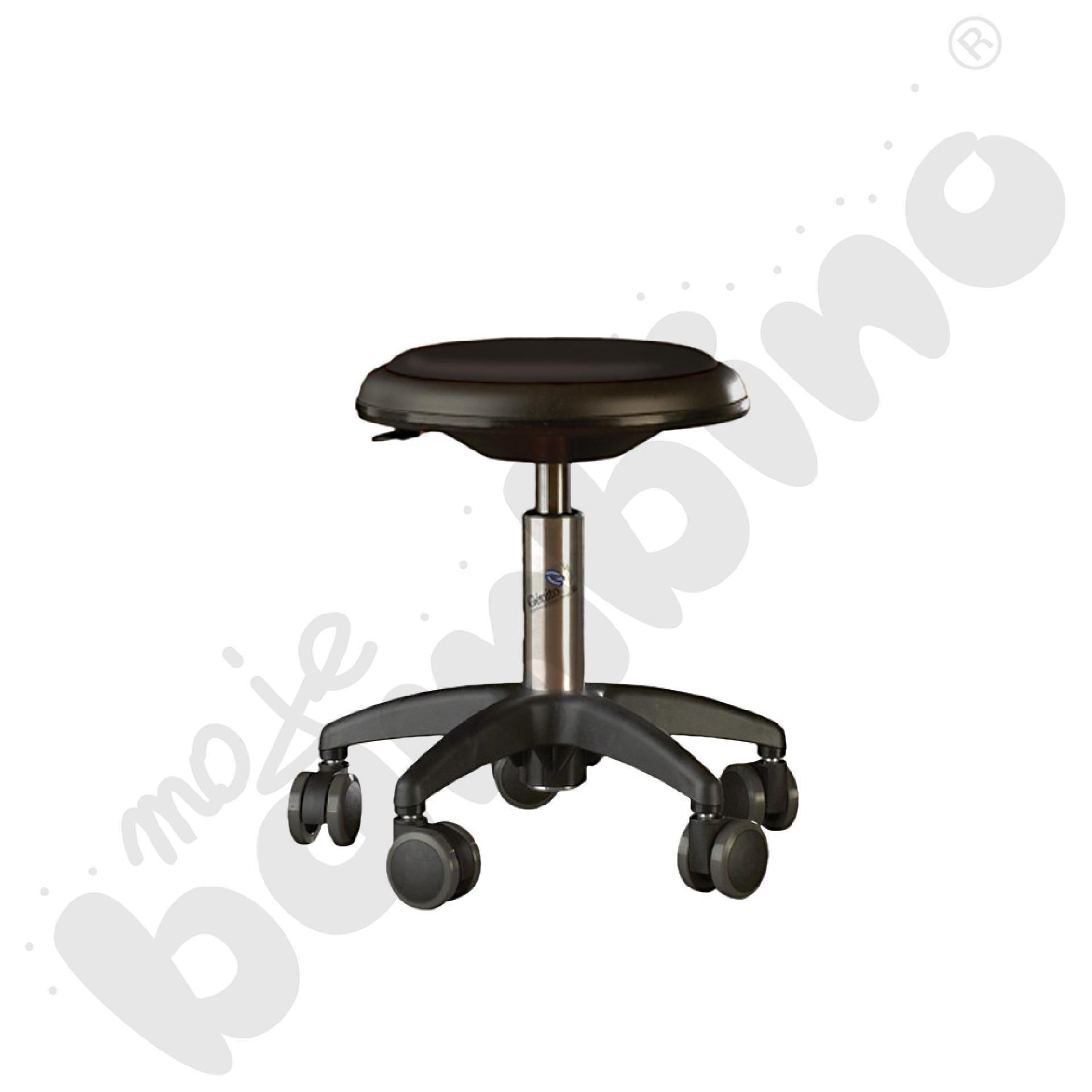 Krzesło Genito, wys. 38-48 cm - czarne
