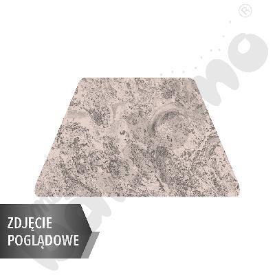 Cichy stół Plus trapezowy, 140 x 70 x 80 x 70 cm, zaokrąglone narożniki, rozm. 6 - beżowy