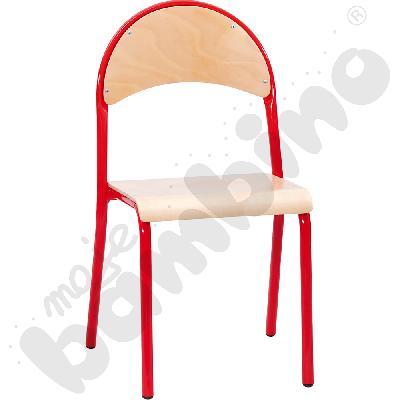 Krzesło P rozm.  5 czerwone