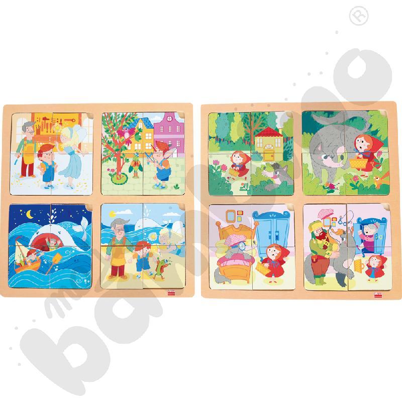 Zestaw puzzli - Czerwony Kapturek i Pinokio
