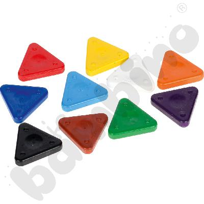 Kredki woskowe - trójkąty...
