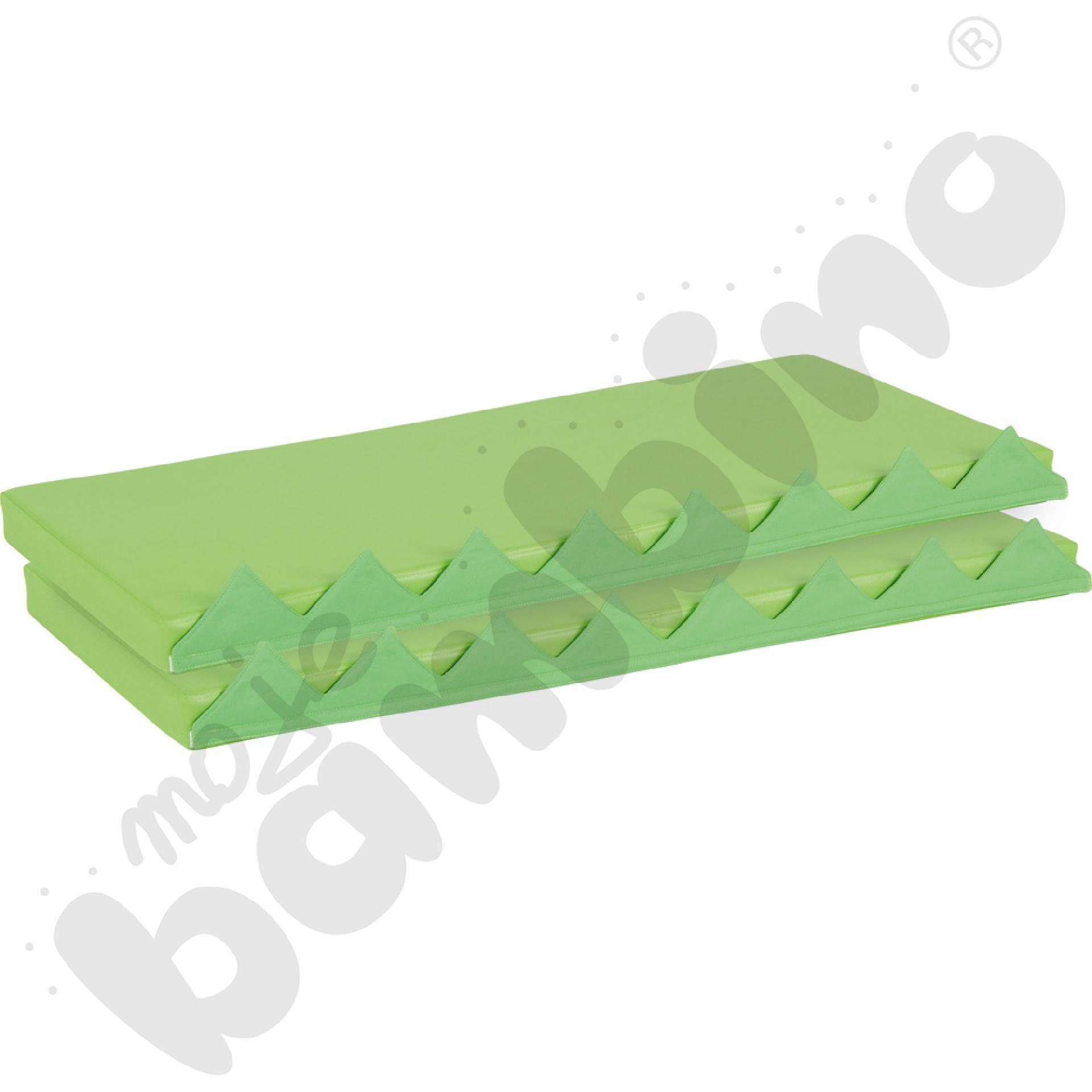 Materace prostokątne z motywem trawy,  2 szt. - zielone