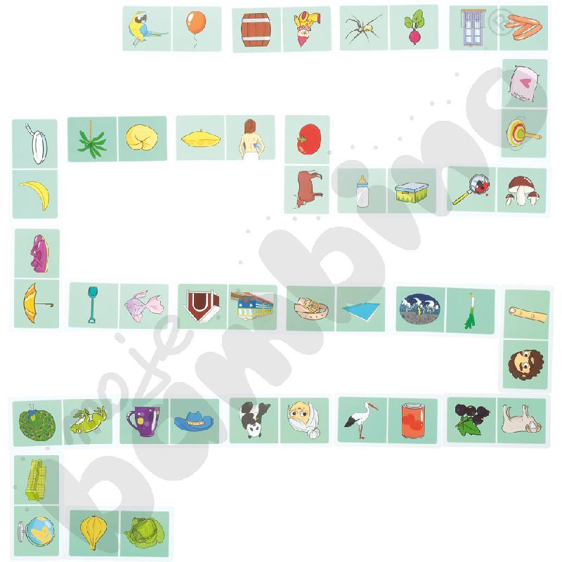 Domino logopedyczne dla starszaka. Różnicowanie głosek P-B