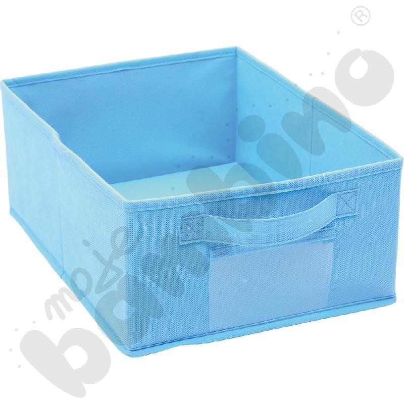 Pojemnik z tkaniny - niebieski
