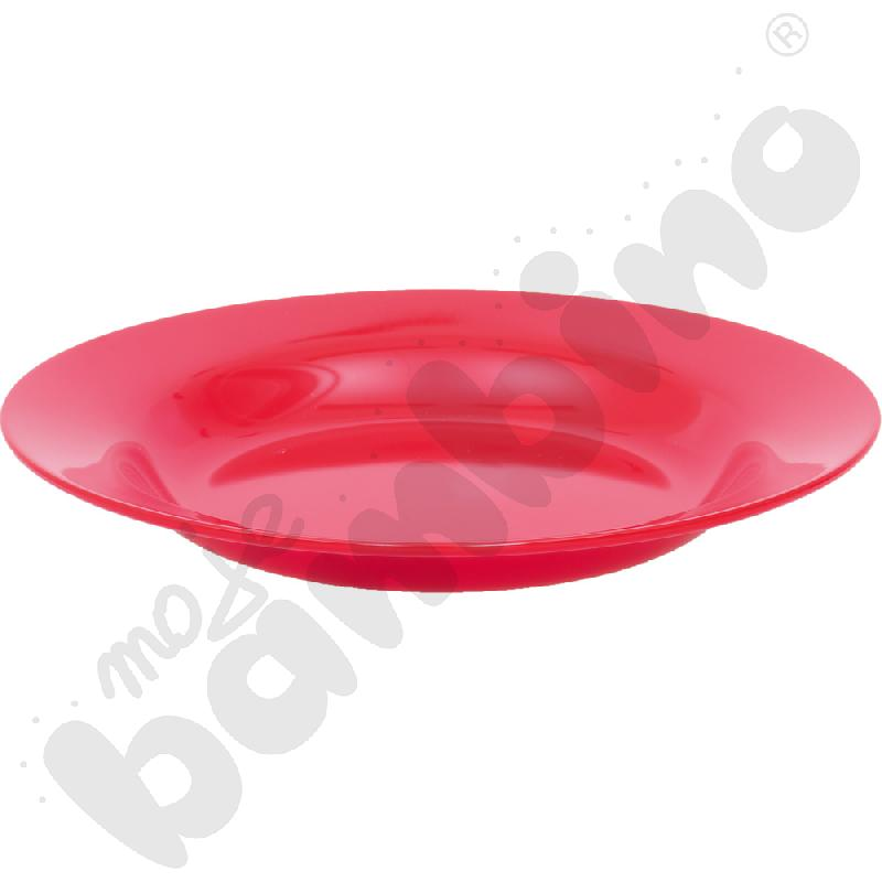 Głęboki talerz - czerwony