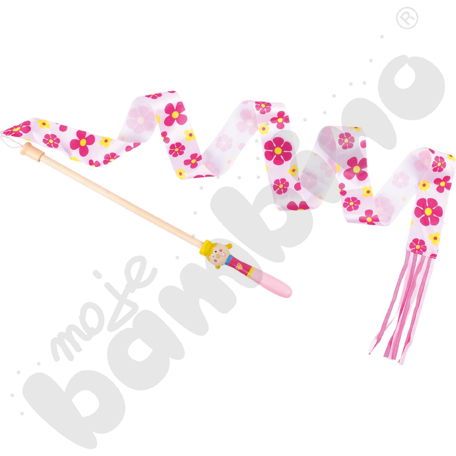 Szarfa z rączką różowa