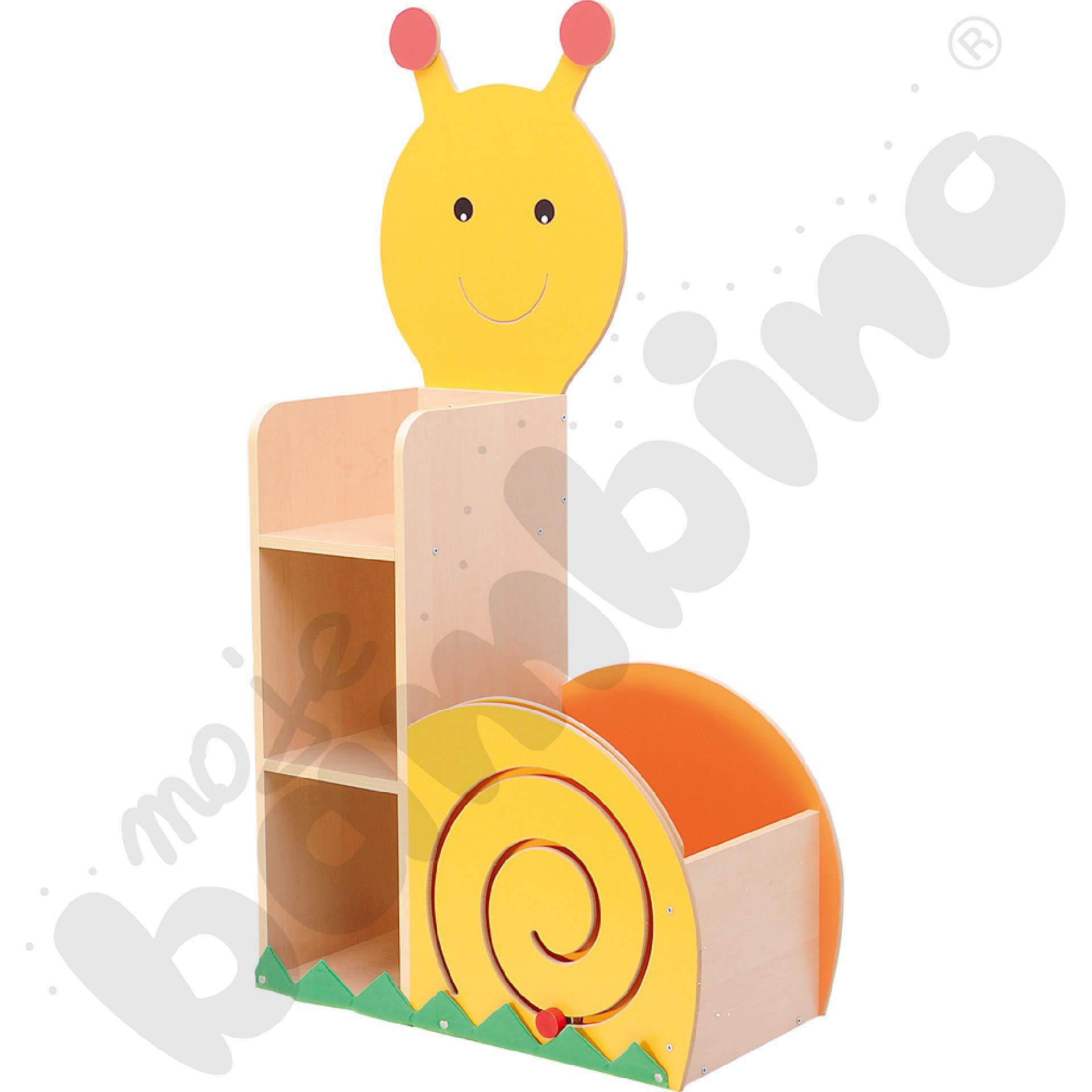 Ślimak - regał z pojemnikiem i przesuwanką