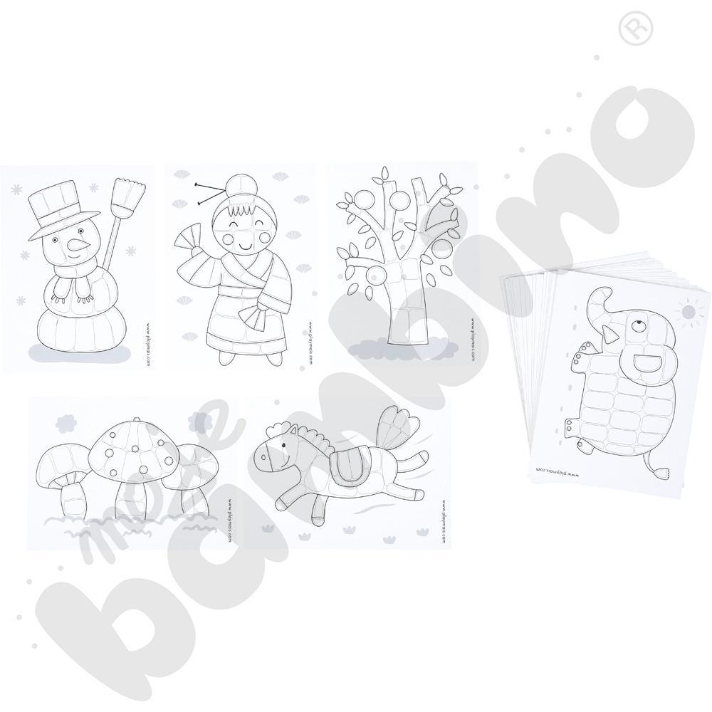 PlayMais - karty zadań czarno-białe