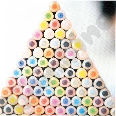 Piramida z kredek 2 - obraz