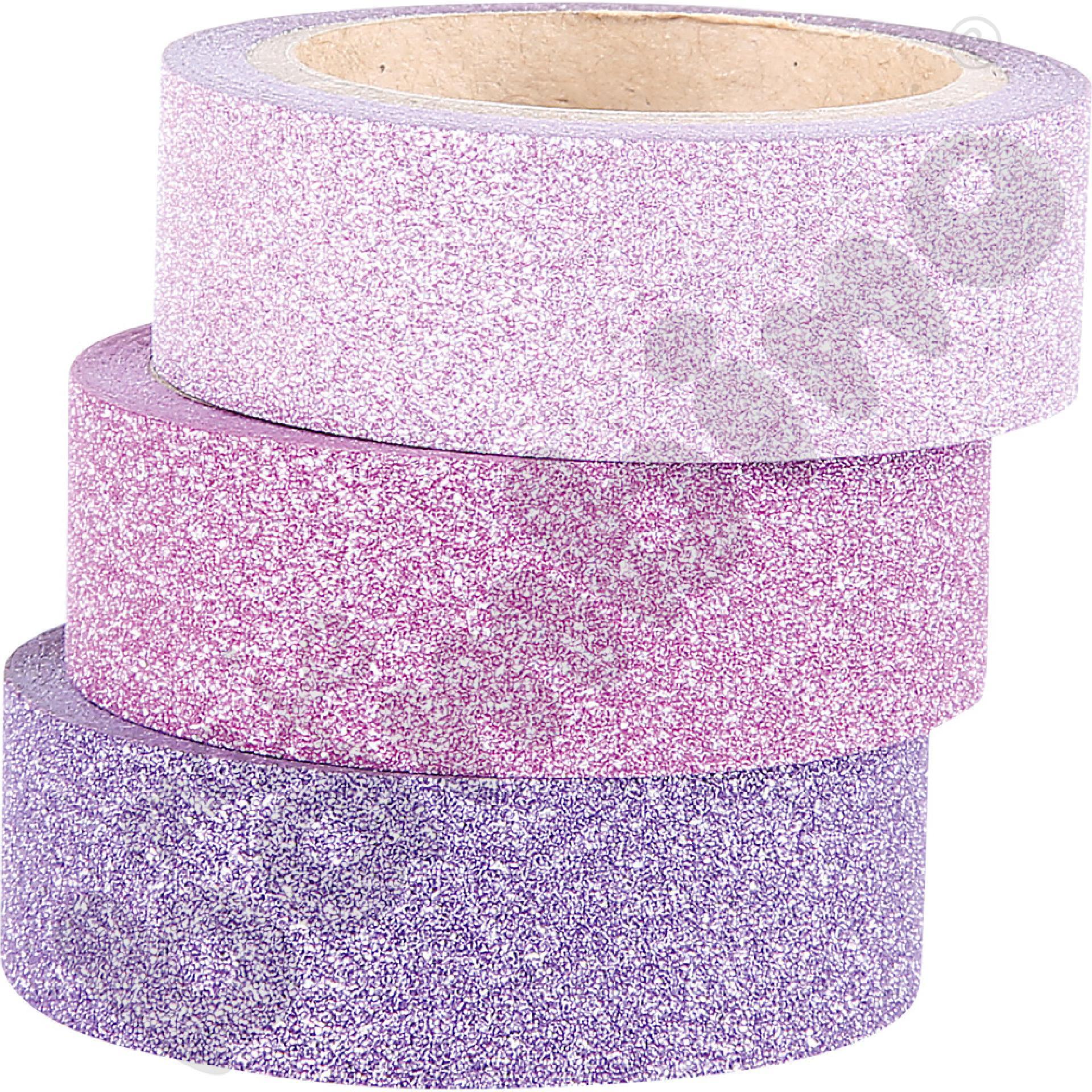 Taśmy brokatowe samoprzylepne (jasnoróżowa, różowa, fioletowa)