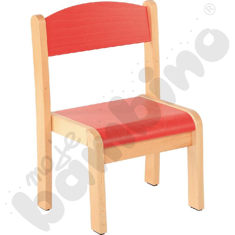 Krzesło Filipek czerwone ze stopką filcową rozm. 1
