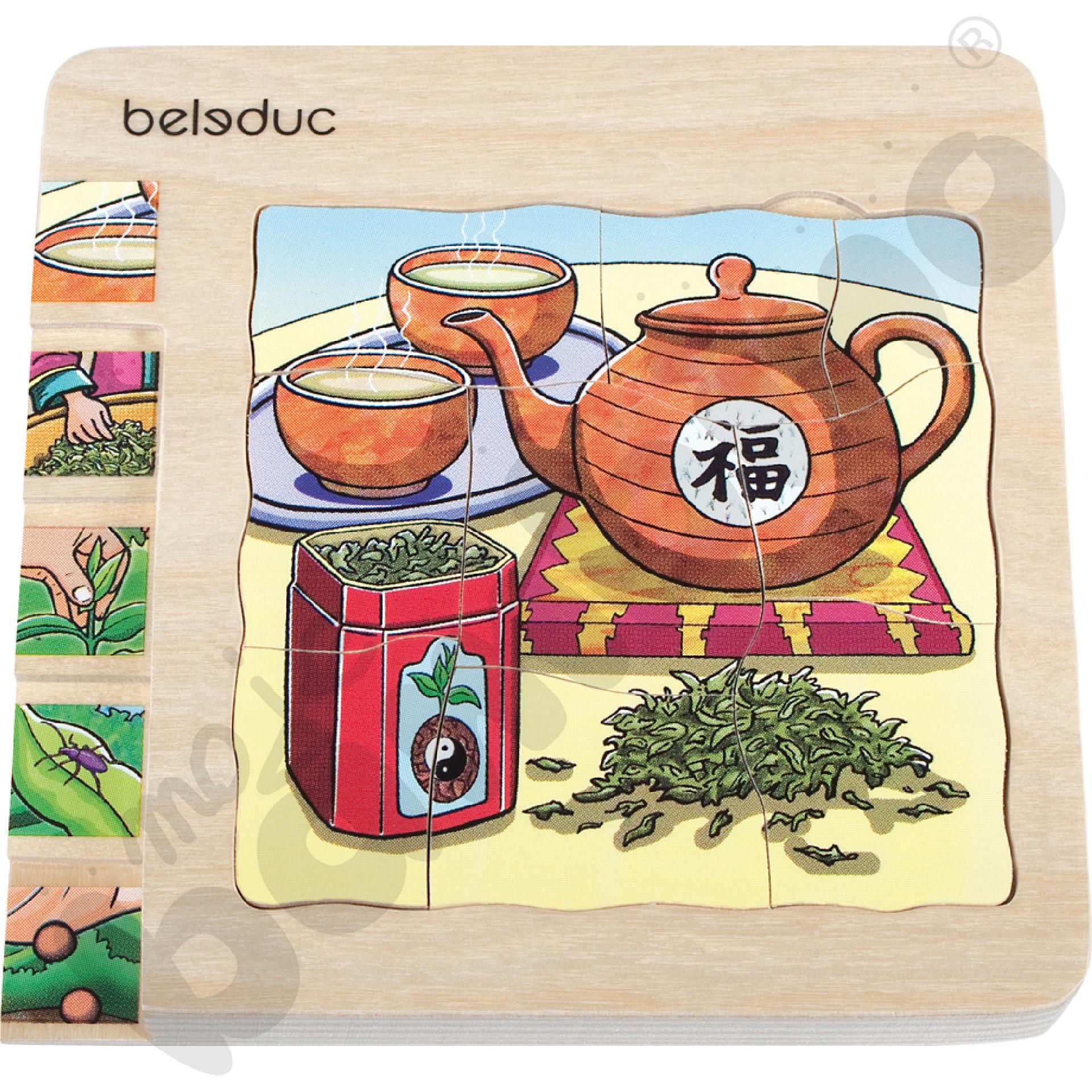 Edukacyjne puzzle warstwowe - herbata