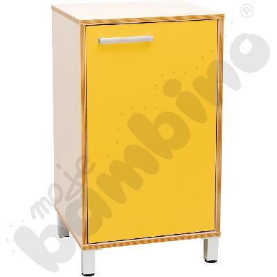 Szafka z drzwiczkami Premium solo - żółta