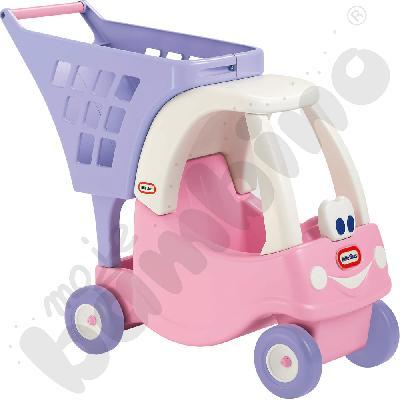 Wózek na zakupy - różowy