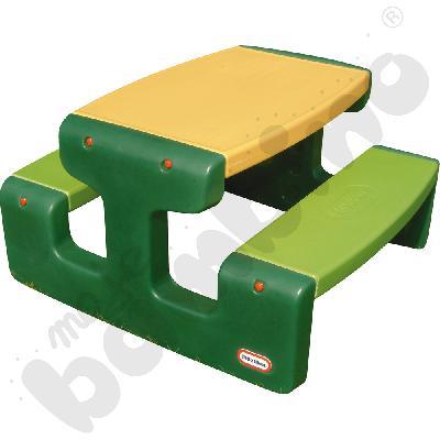 Duży stolik piknikowy - zielono-żółty