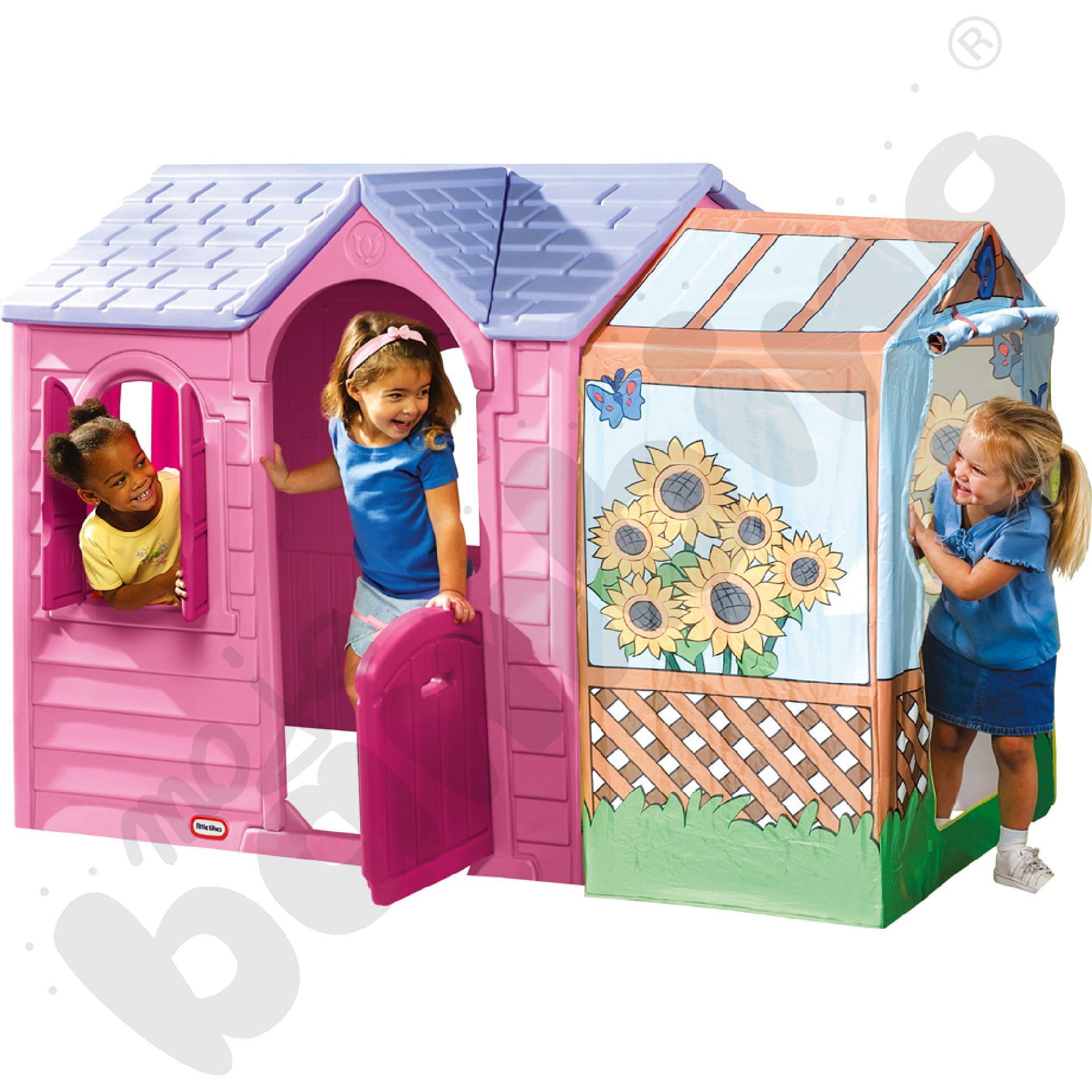Letni domek do zabawy różowy