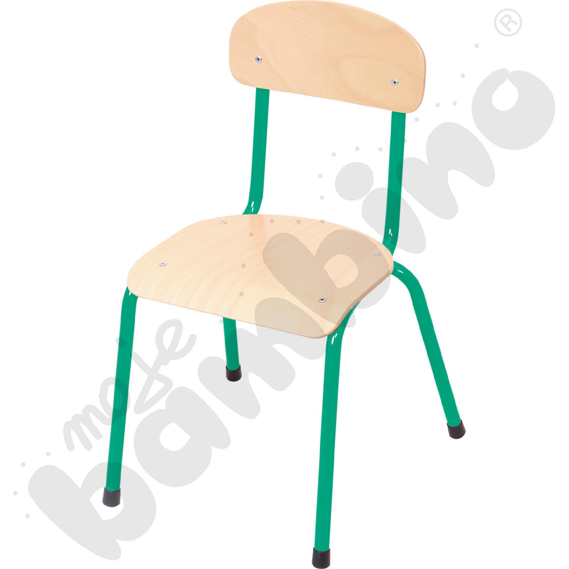 Krzesło Bambino rozm. 4 zielone